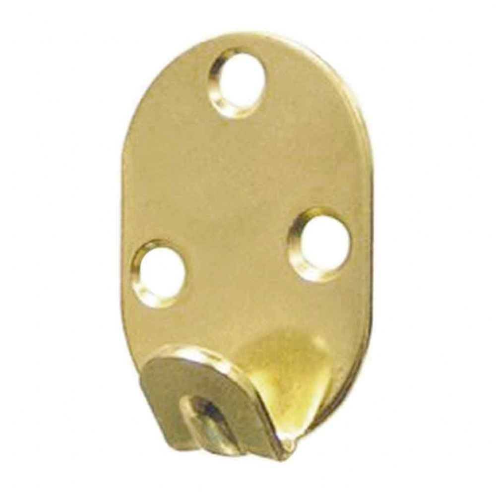 Heavy Duty Wall Hooks - 3 screw hole, brass plated